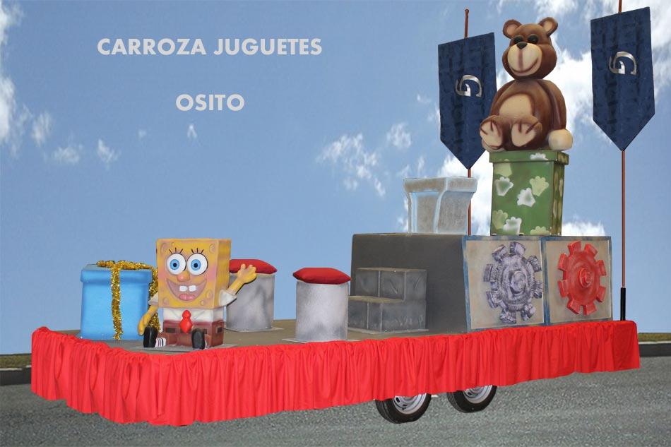 alquiler carrozas infantil modelo juguetes osito