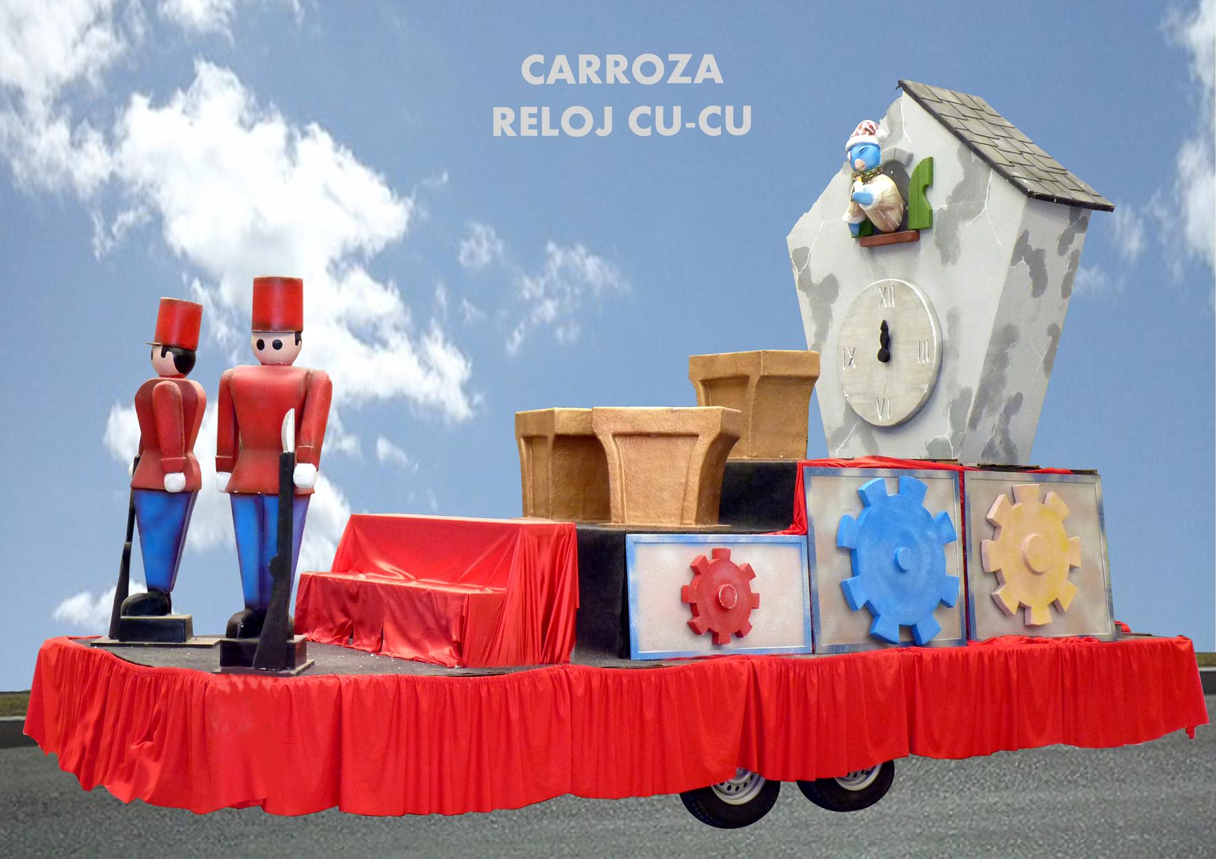 Carroza Infantil con Reloj Cucu y soldaditos