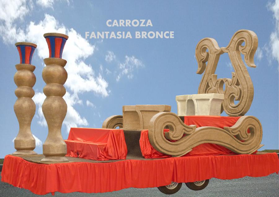 Carroza alquiler reyes magos fantasía bronce