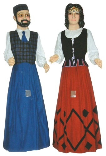 pareja de Gigantes de Andorra