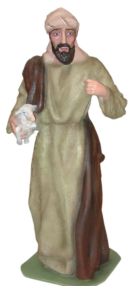 Figura de belén pastor con oveja