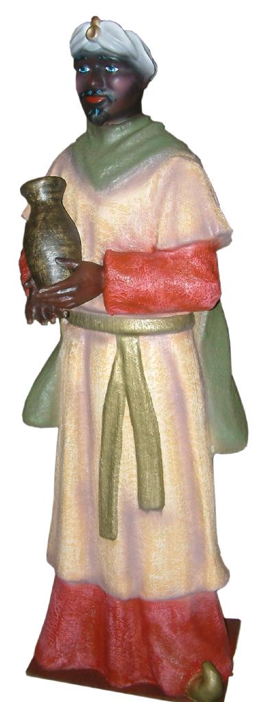 Figura Belén Rey Baltasar a tamaño natural