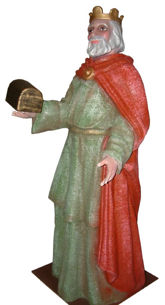 Figura Belén Rey Melchor de tamaño real