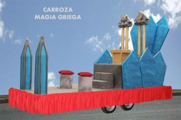 alquiler de carrozas para reyes magos modelo magia griega