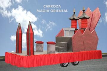 alquiler de carrozas para reyes magos modelo magia oriental