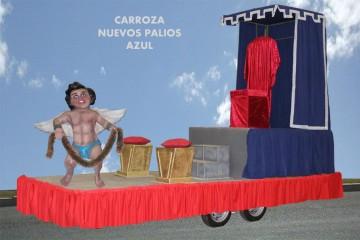 alquiler de carrozas para reyes magos modelo nuevos palios azul