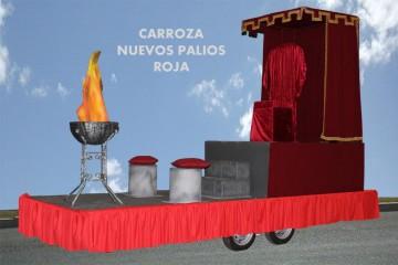 alquiler de carrozas para reyes magos modelo nuevos palios roja