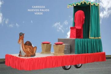 alquiler de carrozas para reyes magos modelo nuevos palios verde