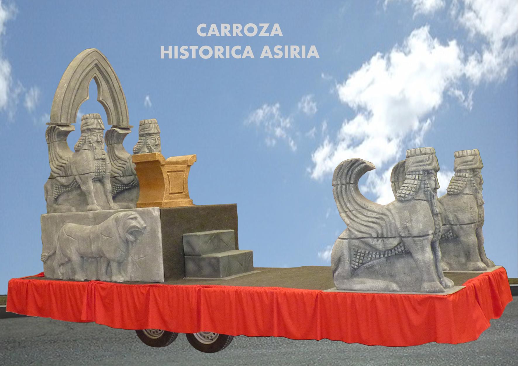 Carroza toros asirios