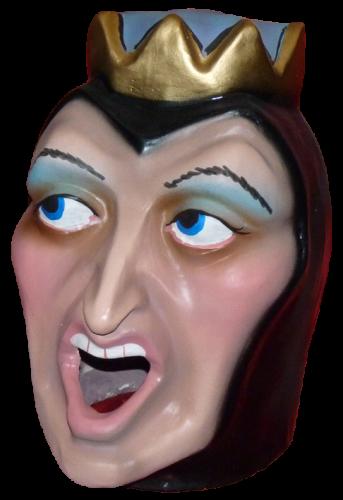 cabezudo infantil de la Reina mala