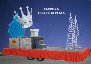 Alquiler carrozas reyes magos Carroza Escarcha Plata