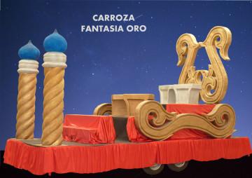 alquiler carrozas reinas fiesta Carroza Fantasía Oro