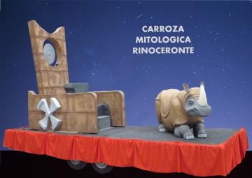 alquiler Carroza Mitológica Rinoceronte