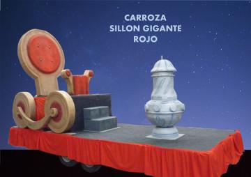 alquiler carroza reyes magos modelo Carroza Sillón Rojo