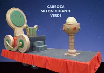 alquiler Carroza Sillón verde