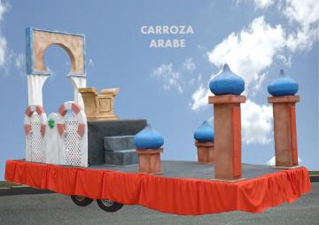 Carroza reyes magos arabe