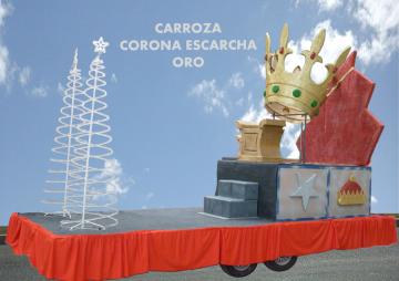 Alquiler de carrozas modelo Corona Escarcha Oro