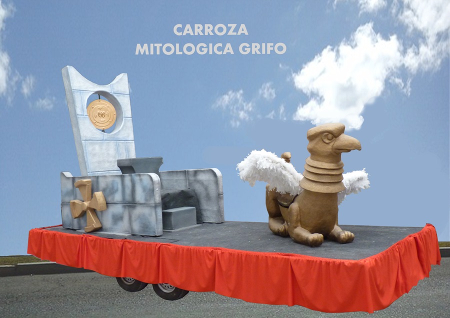Carroza alquiler reyes magos mitologica grifo