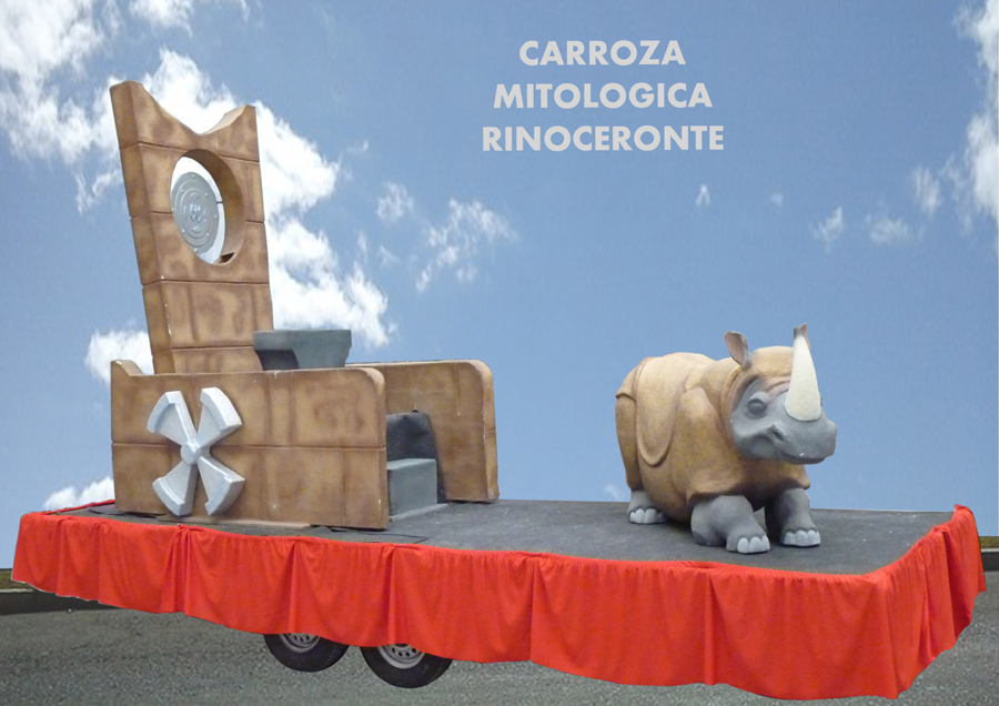 Carroza alquiler reyes magos mitologica rino