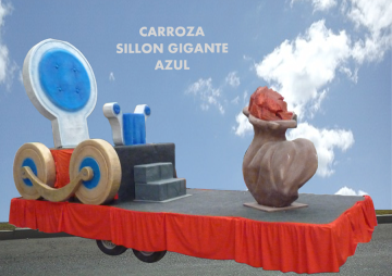 Alquiler de Carrozas modelo Sillón Gigante Azul
