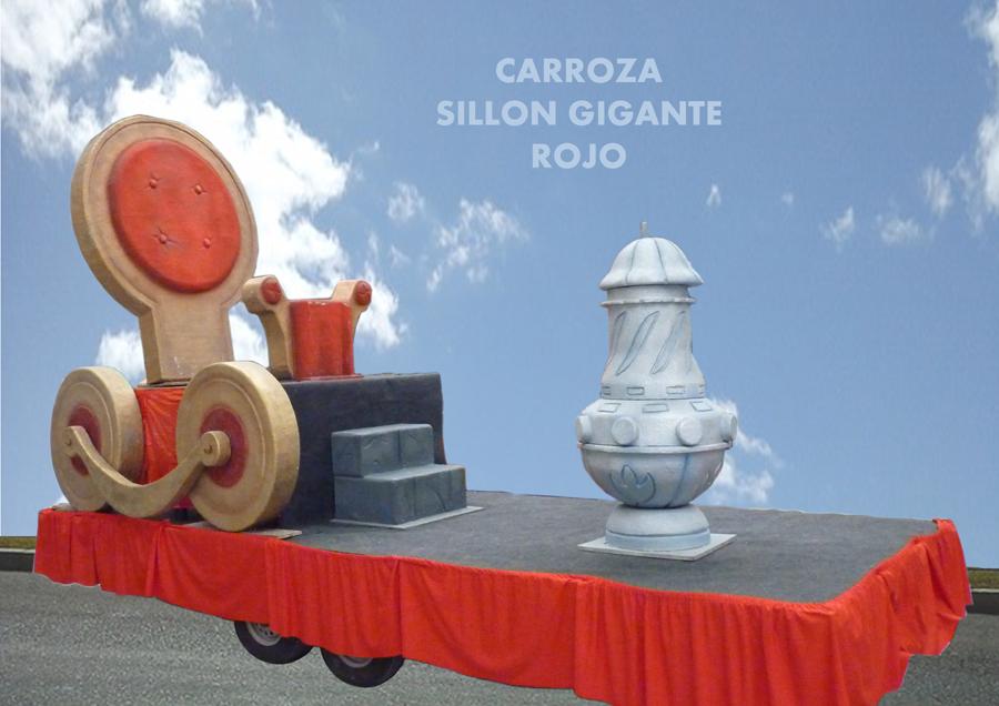 Carroza alquiler reyes magos sillon rojo