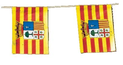 Banderas de fiesta de aragon para pueblos en Fiestas