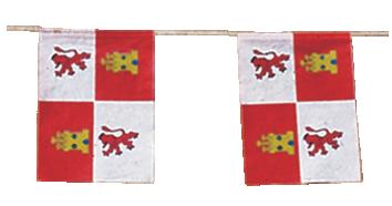 Banderas Castilla León para adornar calles y plazas de pueblos en fiestas