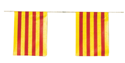 Banderas Cataluña papel para adornar Fiestas