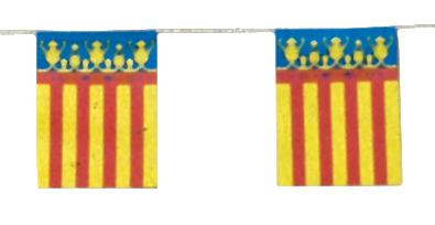 Banderas para adornar Pueblos en Fiestas