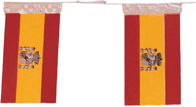 banderas y banderines para fiestas de Pueblos