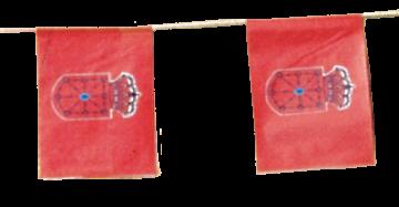 banderas navarra para fiestas de pueblos