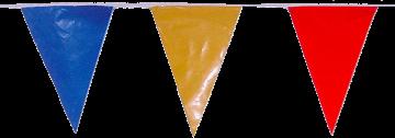 Banderines triangulares para fiestas de pueblos