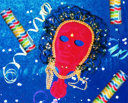 articulos para Carnaval, confeti, disfraces