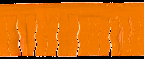 Fleco de color naranja para decorar