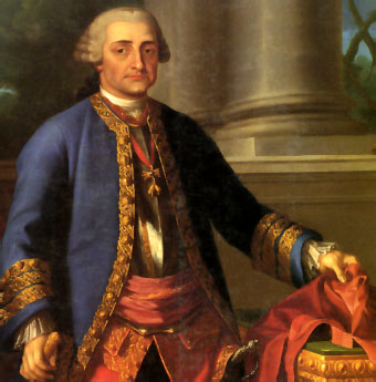 retrato en oleo del Conde de Aranda