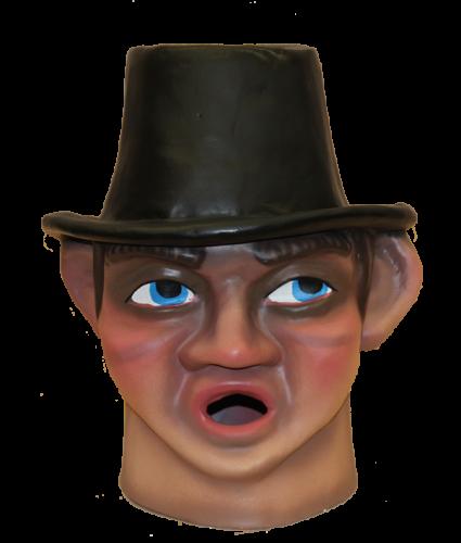 Cabezudo para niños Forano son sombrero de copa