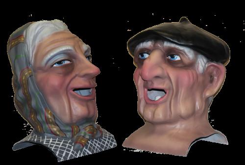 pareja de cabezudos abuelo y abuela