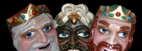 3 cabezudos de reyes magos