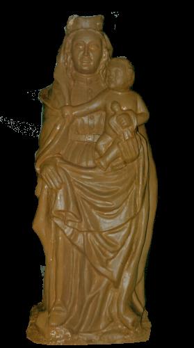 escultura de la figura de la virgen del Pilar para la ofrenda de flores de Zaragoza