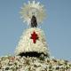 La imagen de la Virgen del Pilar en su plaza