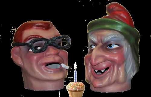 cabezudos para cumpleaños