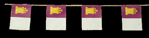 Banderas Castilla La Mancha para adornar Fiestas de Pueblos