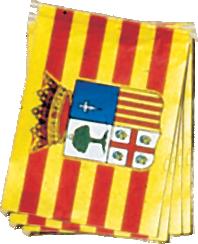 Paquete de banderas de aragón 50 metros plástico