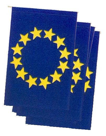 Paquete de banderas de europa para adornar calles y plazas