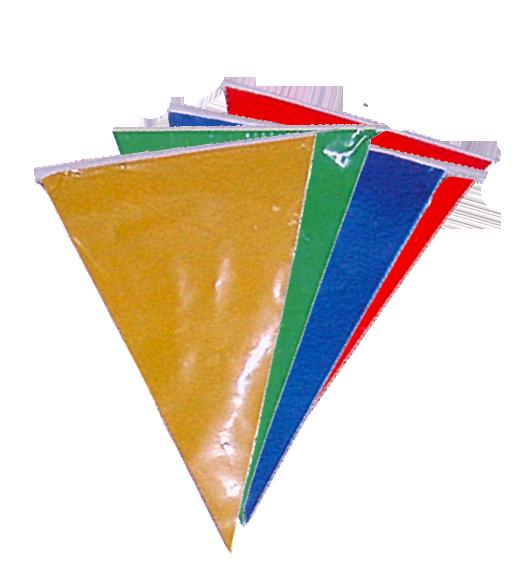 Banderas triangulares de plastico aragonesa de fiestas for Medida de baneras
