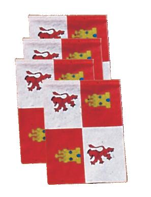 Banderas de Castilla Leon para adornar Pueblos en fiestas