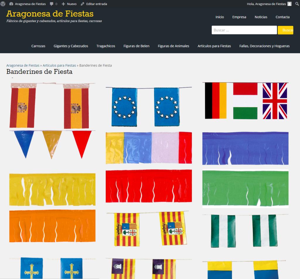banderas y banderines para adornar pueblos en fiestas