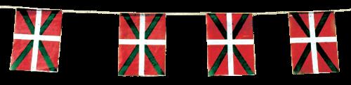 Banderas del Pais Vasco para adornar calles de Fiestas