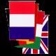 Banderas Paises plastico