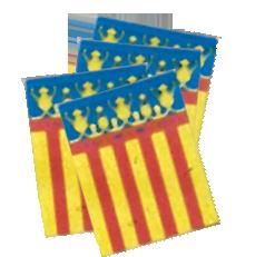 Banderas de la Comunidad Valenciana para adornar calles de pueblos en Fiestas